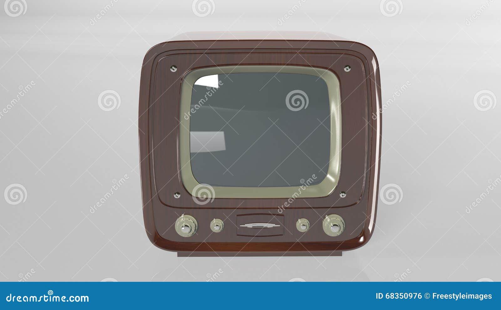 Vintage Television, Retro TV Set On White, Front View Stock Photo ...