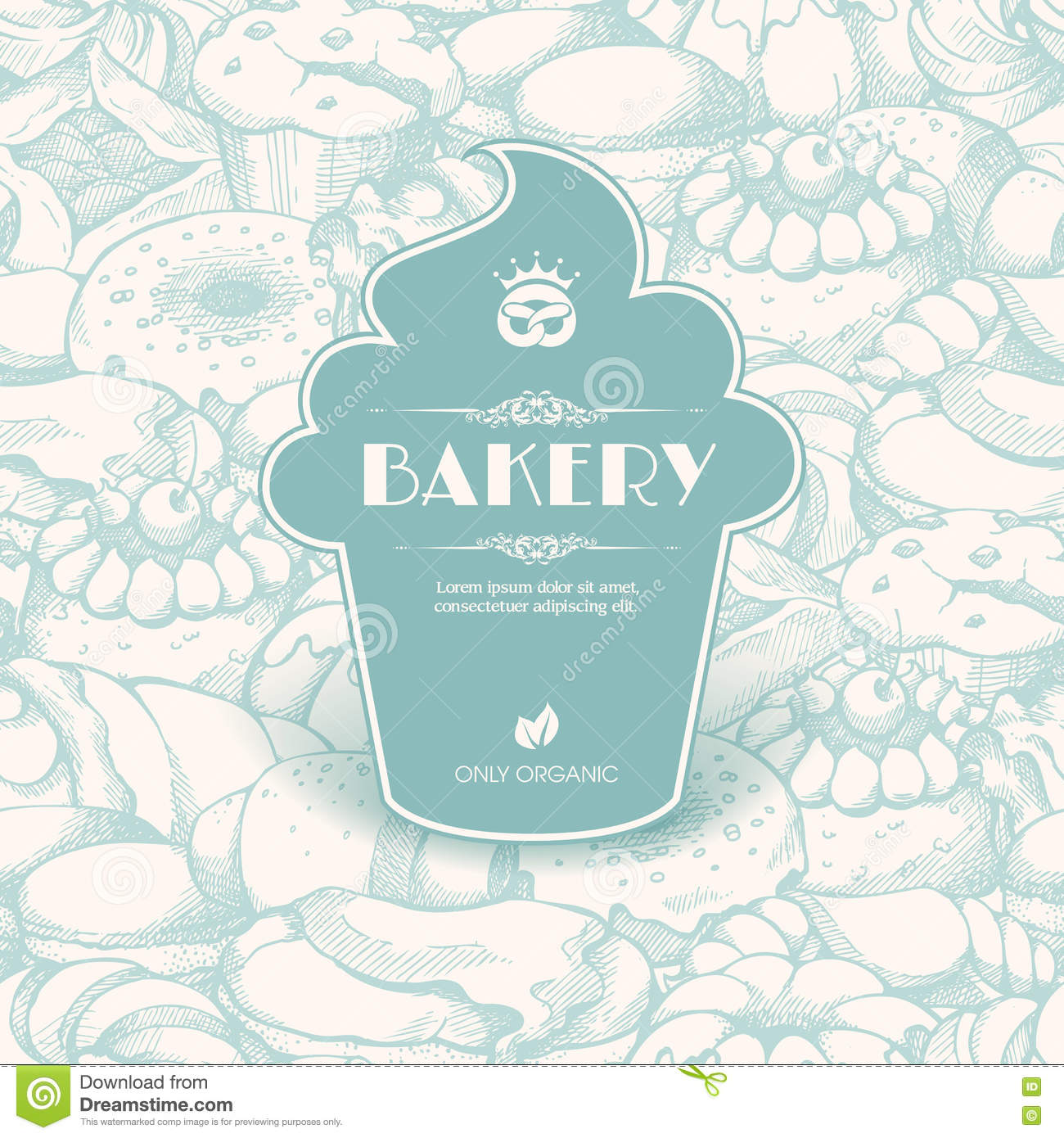 Vintage Template With Label Sticker Form Cupcake Stock Vector ...