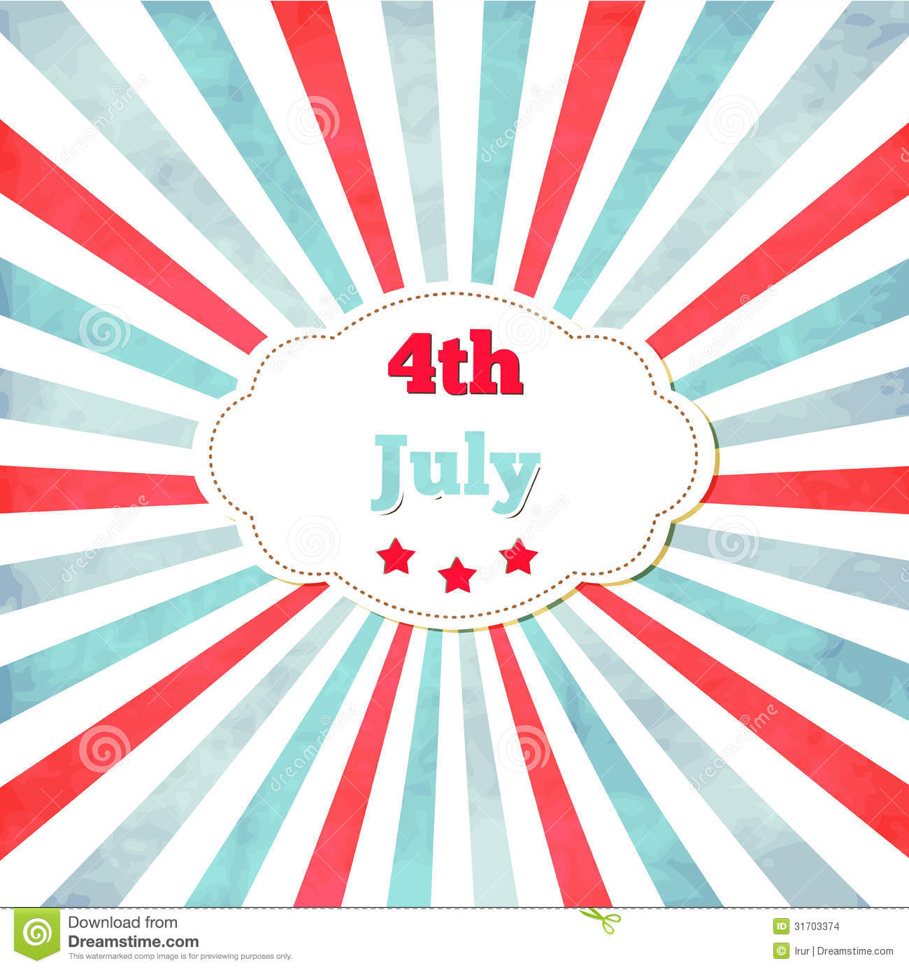 vintage template for 4th of july with frame stock vector