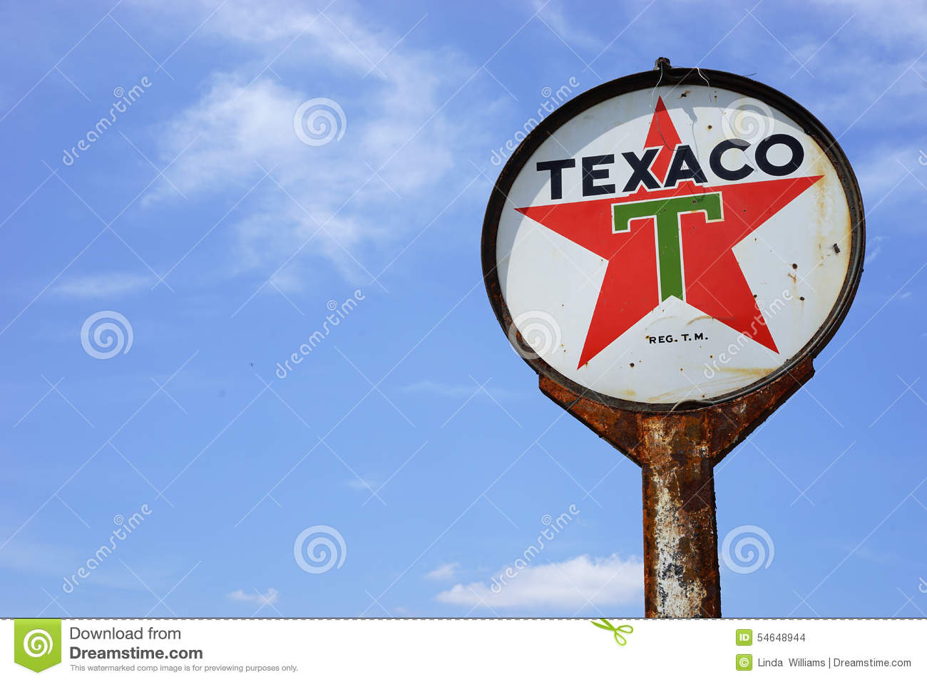 Vintage Texaco Oil sign editorial stock image  Image of