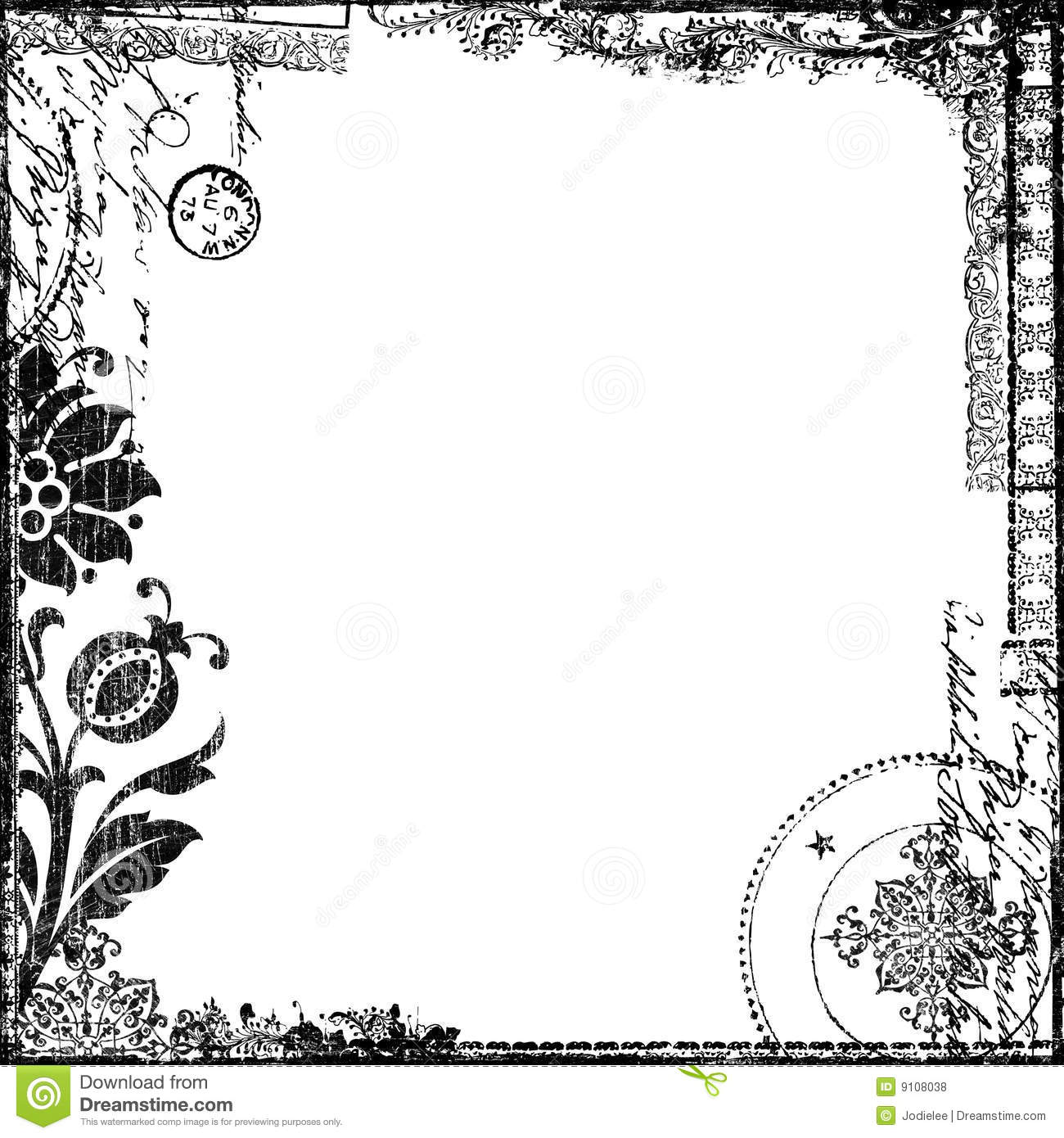 Vintage Text Collage Victorian Background Paper Stock