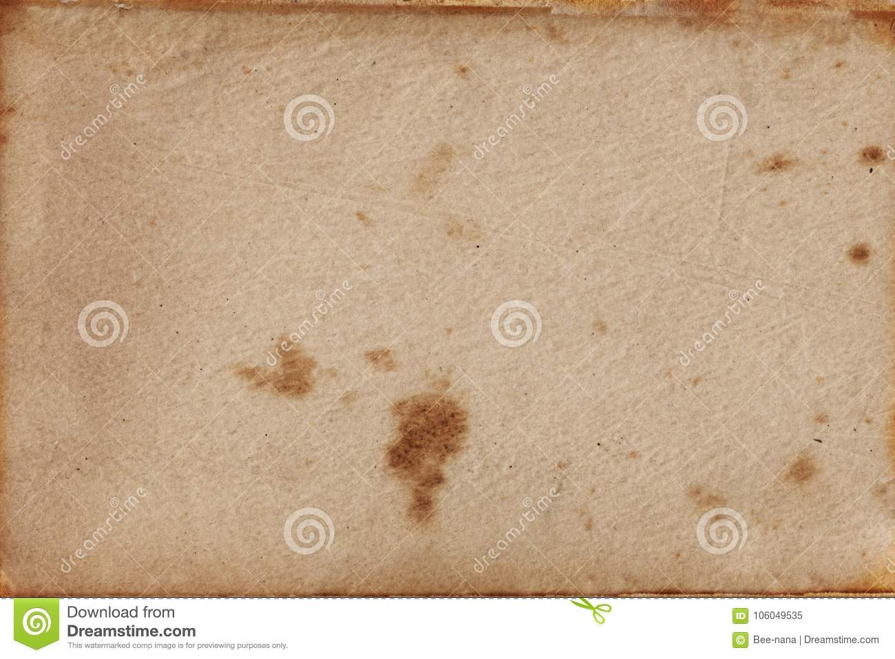 Vintage Textured Paper Stock Image Of Page Stain