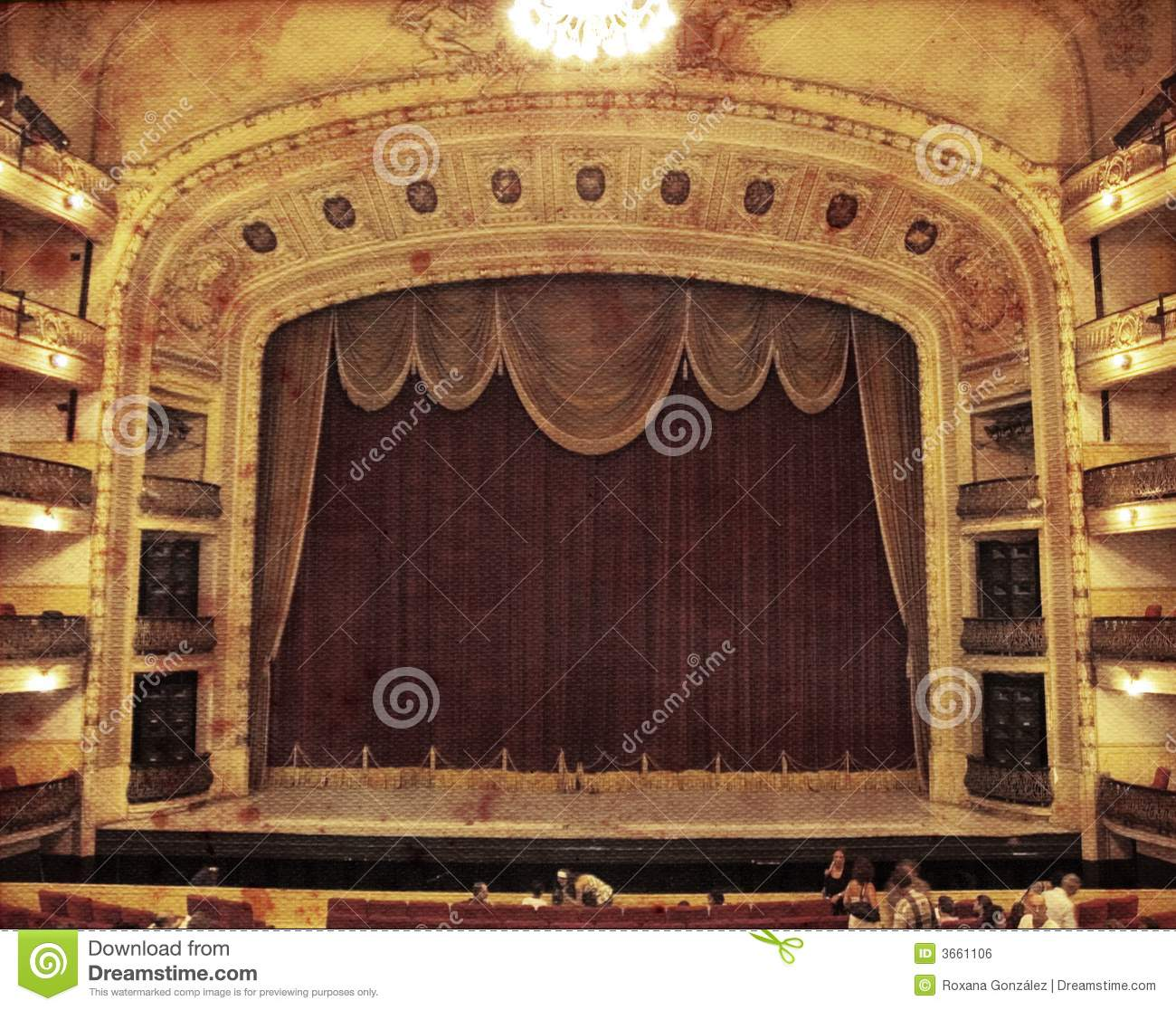 vintage theater stock photo  image of aged  lined  indoor