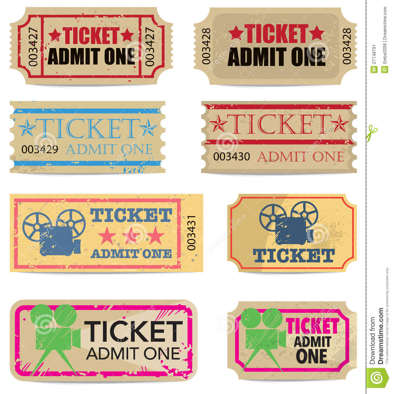Vintage Tickets Stock Image 27748791