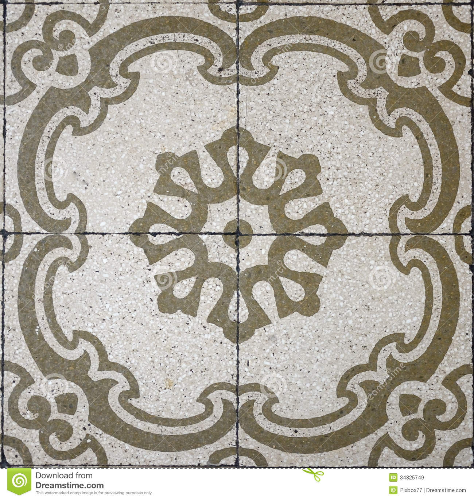Vintage Tile Pattern Royalty Free Stock Images Image
