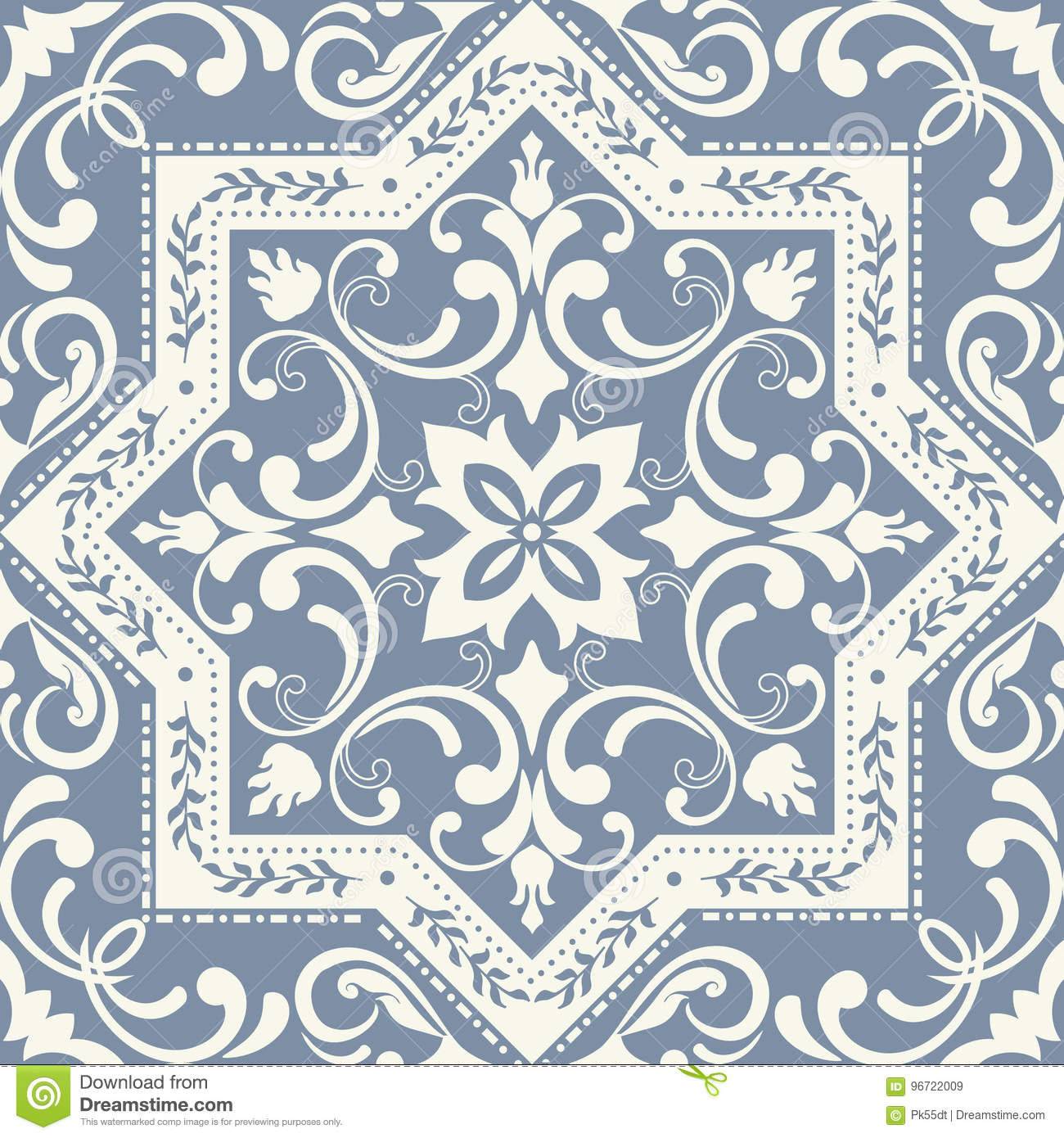 Vintage Tile Patterns Can Be Used For Wallpaper, Pattern Fills, Web Page Background, Surface ...