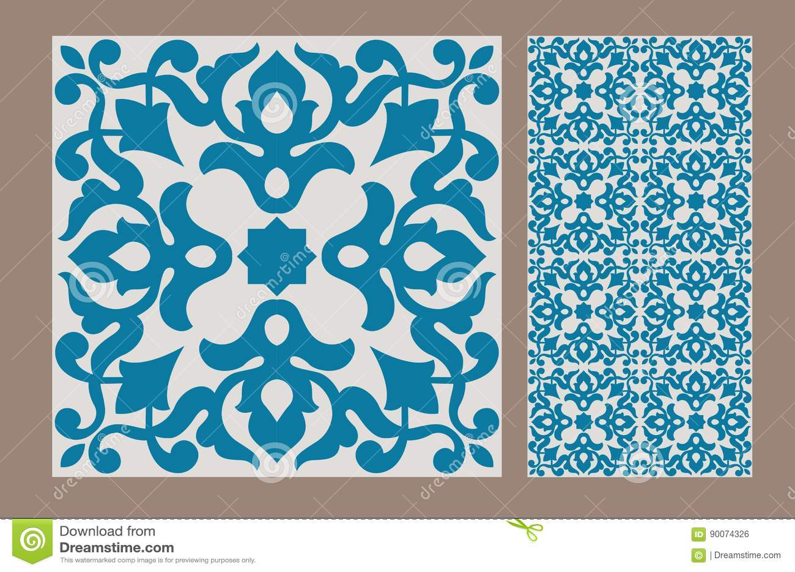 Vintage tile stock vector. Illustration of craft, covering - 90074326