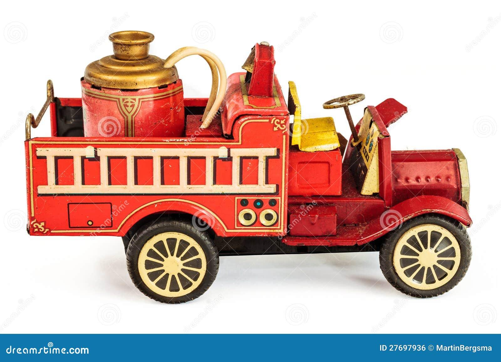 Vintage toy fire trucks