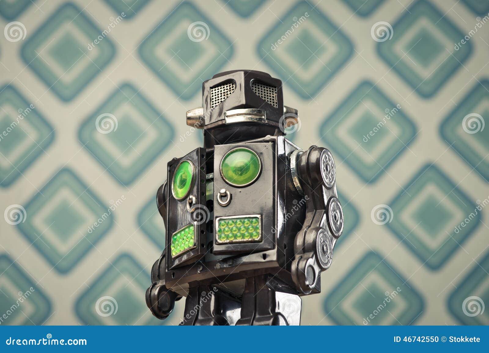 Vintage tin toy robot stock photo. Image of 1960s ...