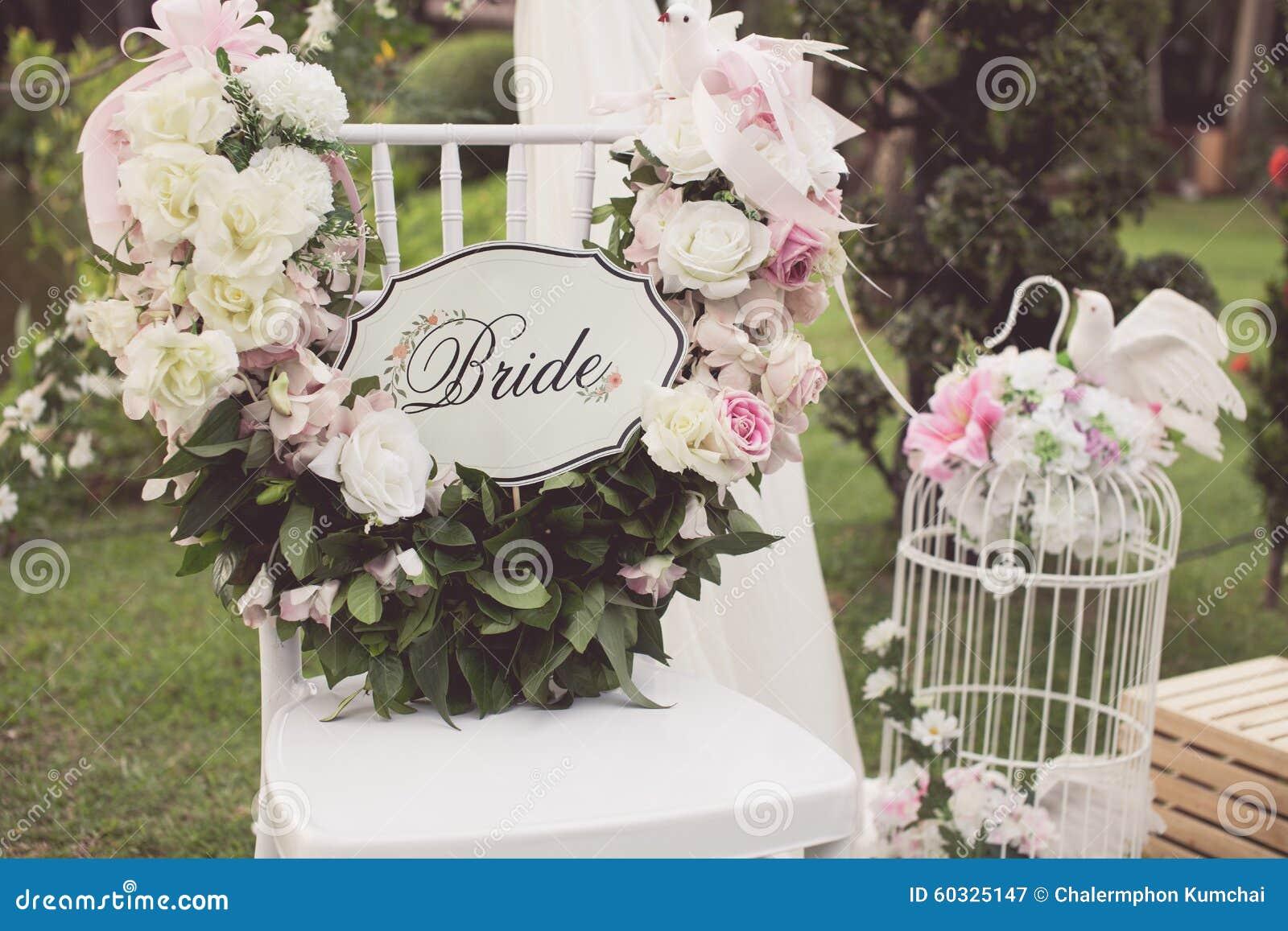 Vintage tone of Wedding chair