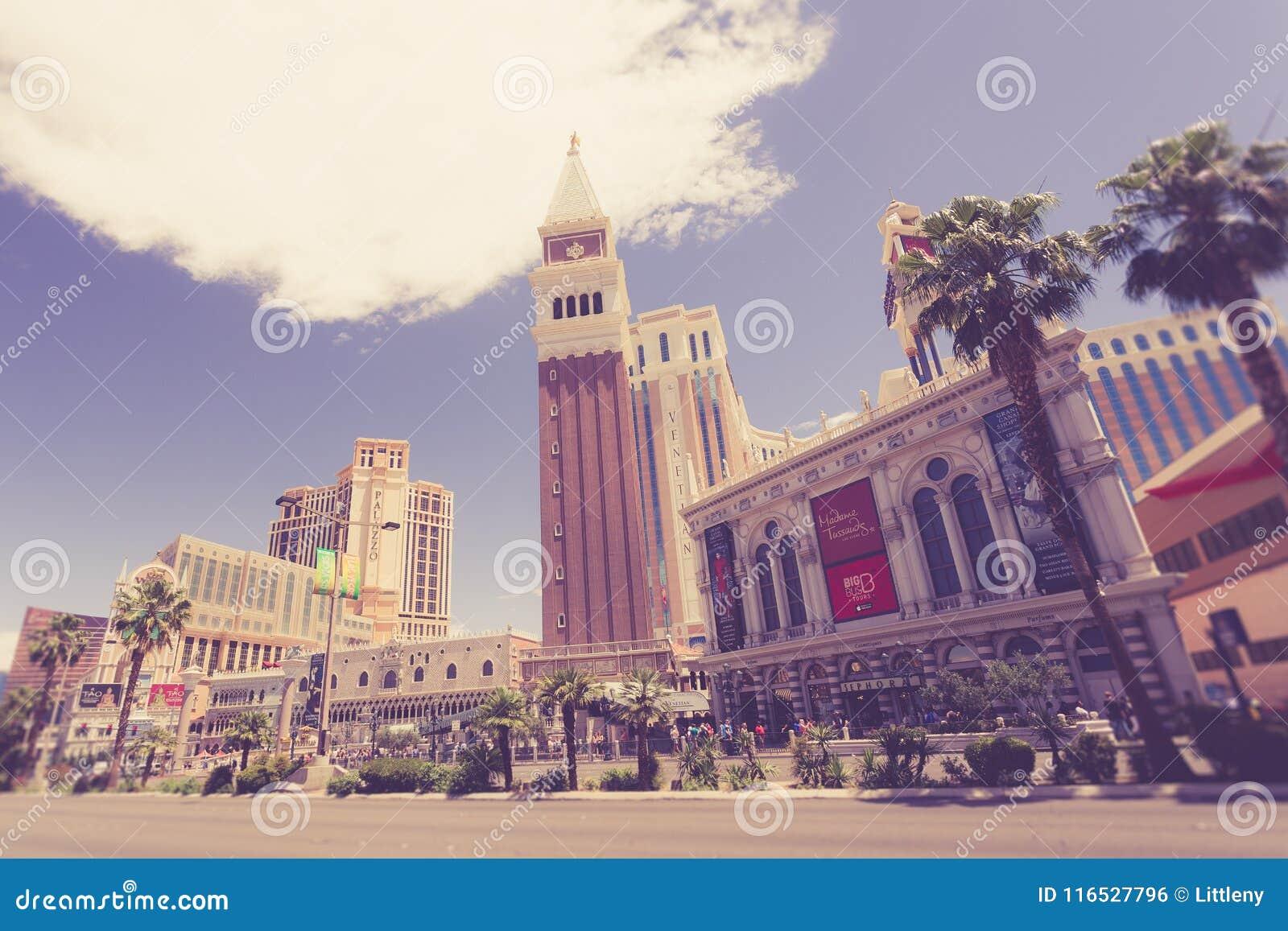 Vintage toned Las Vegas Strip