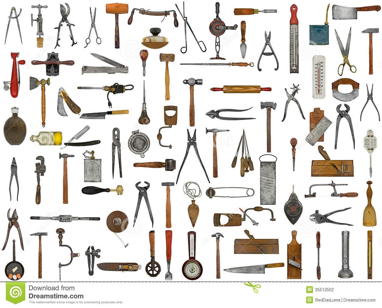 Vintage Tools And Utensils Stock Photo Image Of Cutter