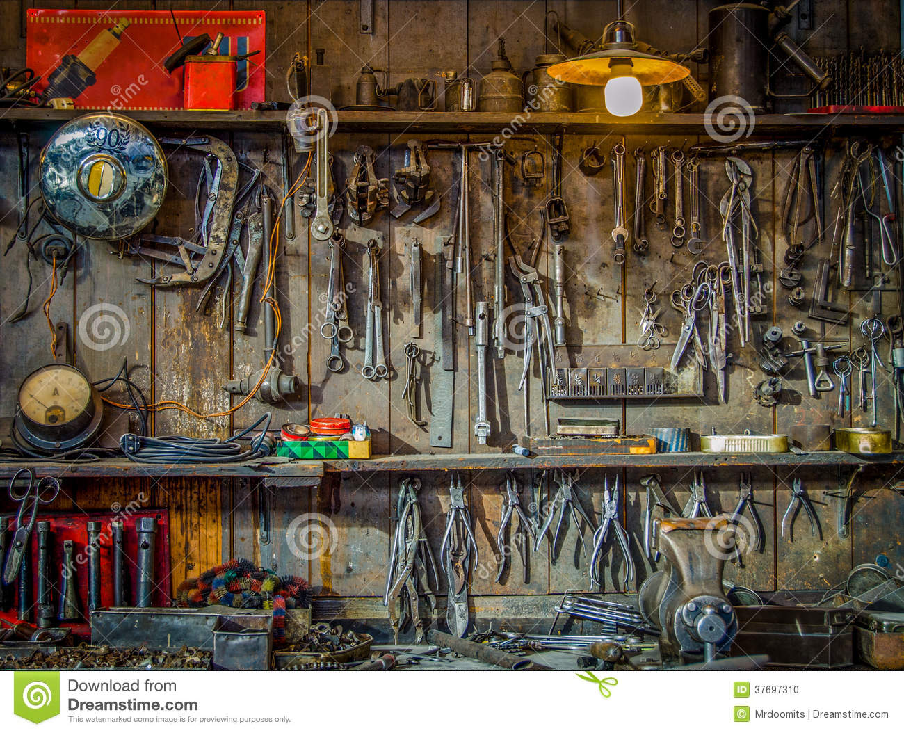 Vintage Tools Workshop Stock Photo Image 37697310