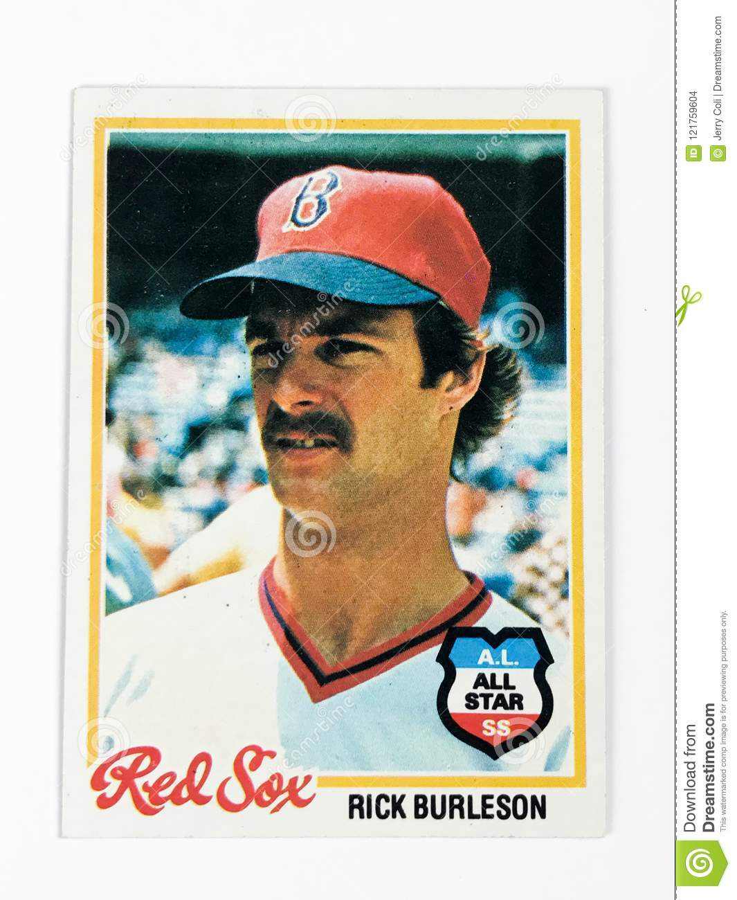 Vintage 1978 Topps Baseball Card Featuring Rick Burleson