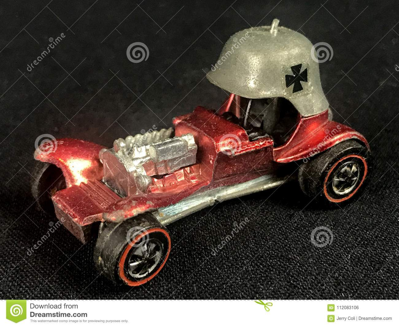 Vintage Toy Hot Wheel The Red Baron Editorial Photo Image