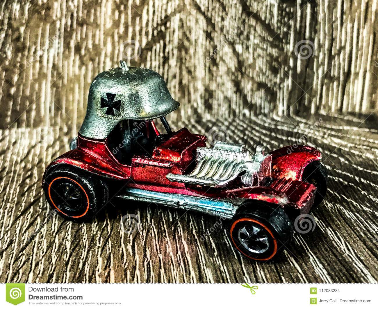 Vintage Toy Hot Wheel The Red Baron Editorial Stock Image