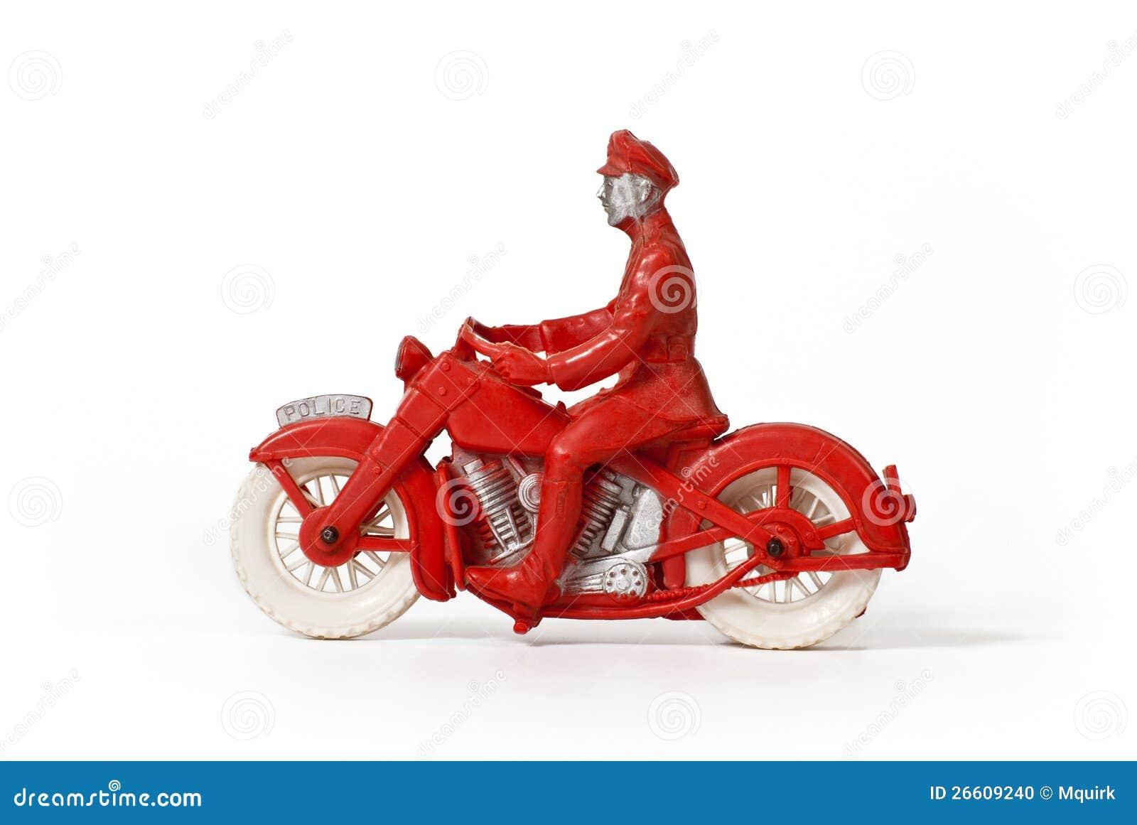 Vintage Toy Motorcycle Policeman Stock Photo Image 26609240