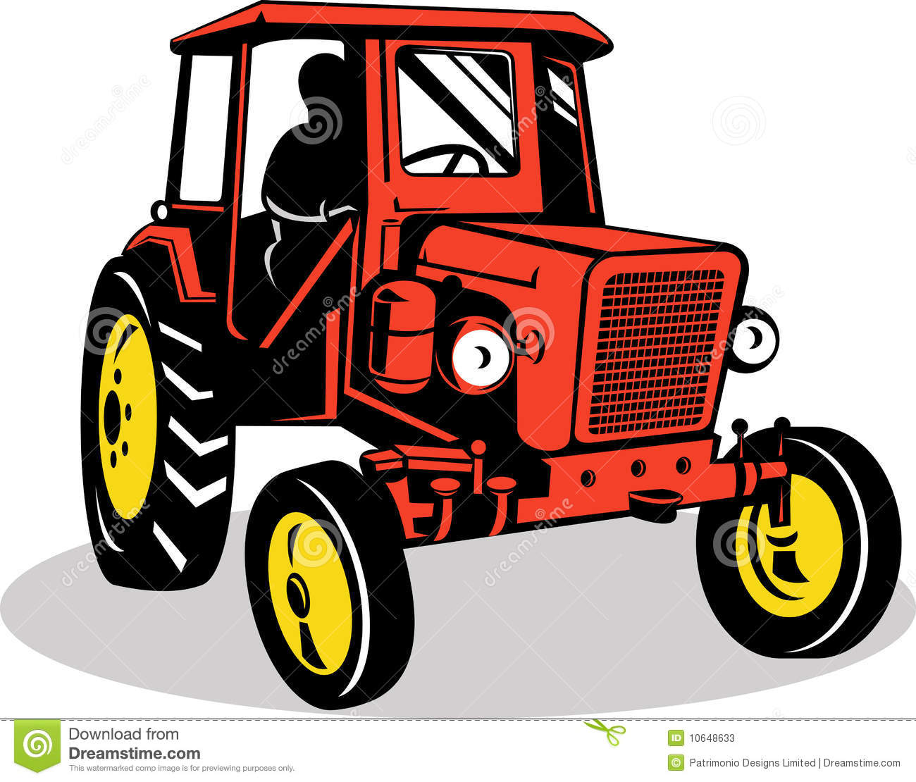 vintage tractor clipart - photo #16
