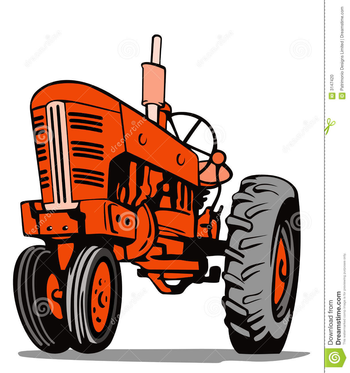 vintage tractor clipart - photo #20