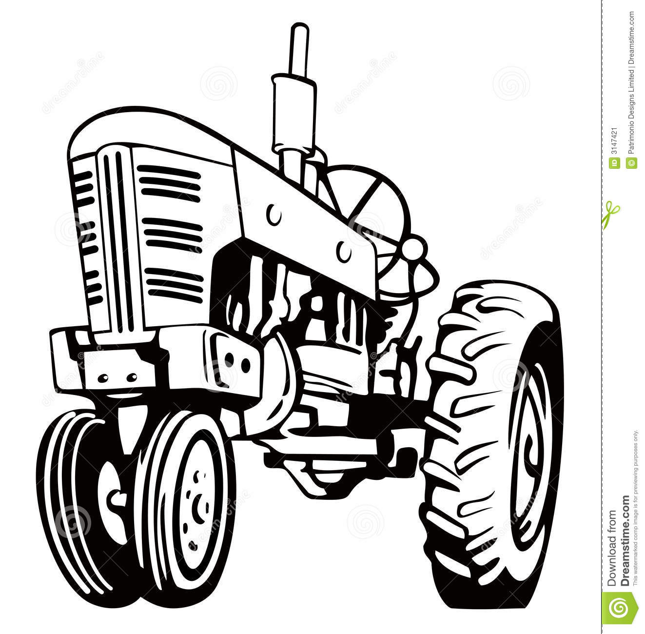 Vintage Tractor Stock Image - Image: 3147421