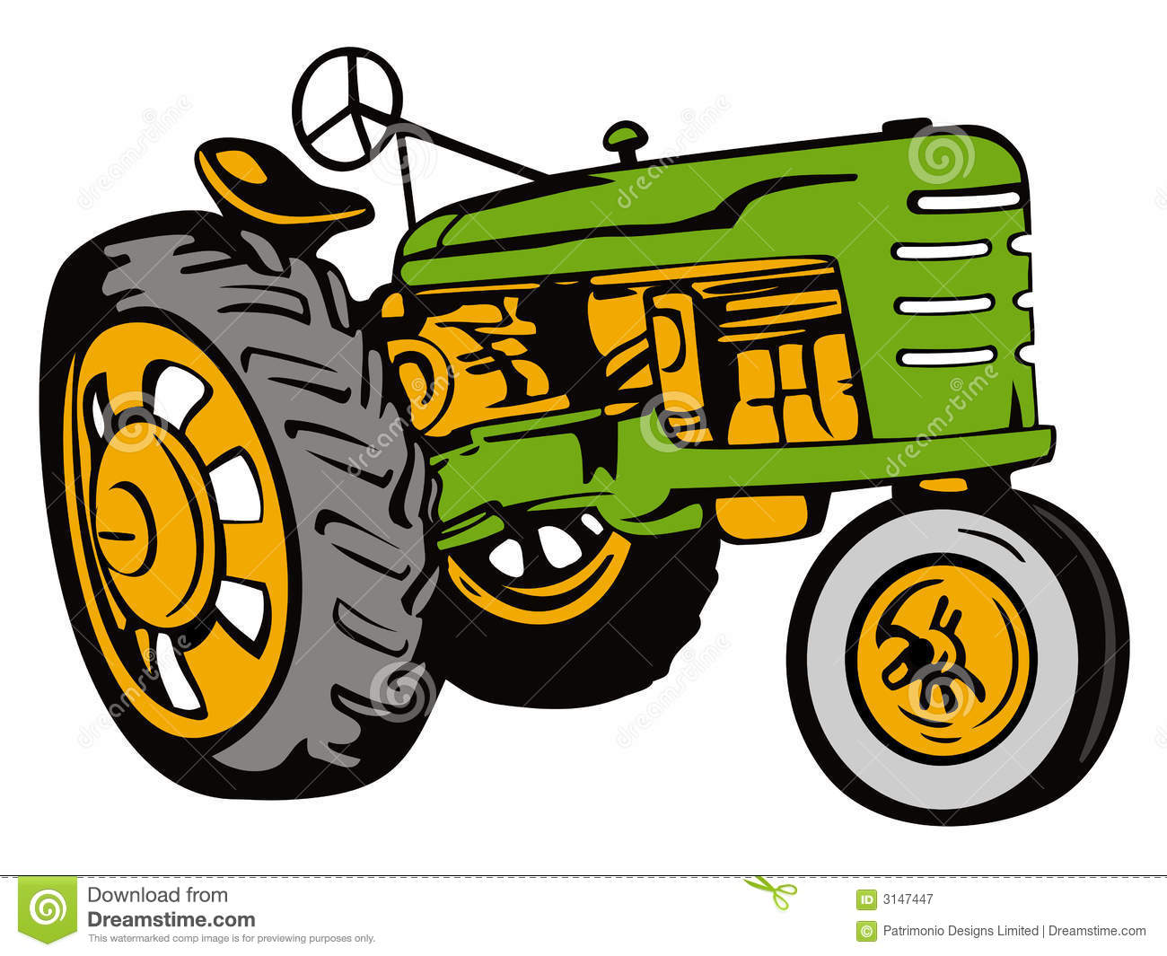 Farm Tractor Wheel Clip Art : Vintage tractor green editorial photography image of
