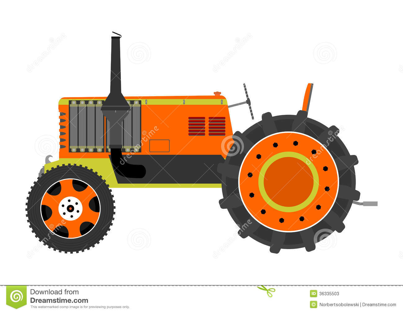 vintage tractor clipart - photo #12