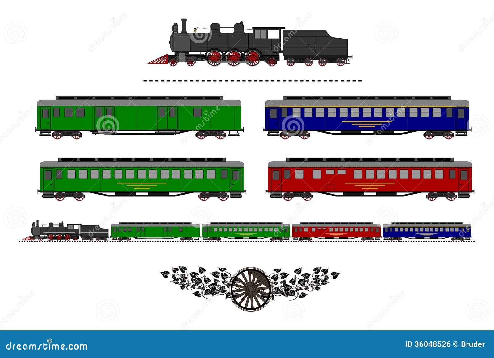 Vintage Train Kit Royalty Free Stock Image - Image: 36048526