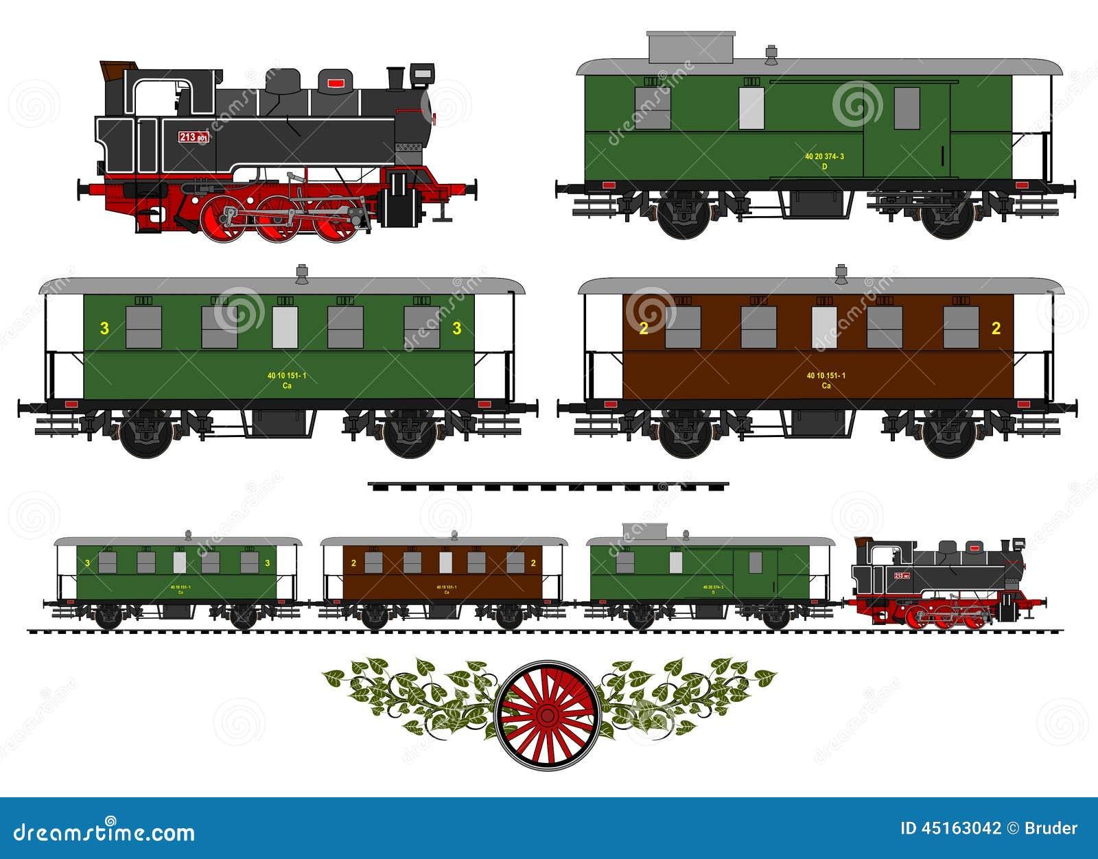 Vintage Train Stock Vector - Image: 45163042