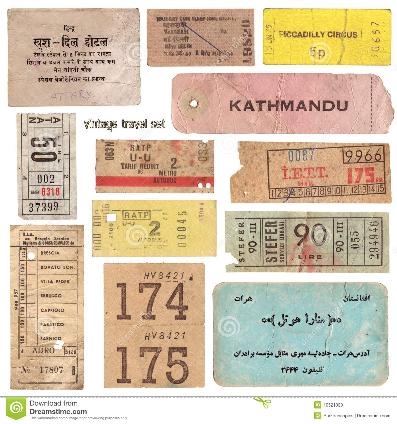 Vintage Travel Documents Stock Image Image Of Delhi