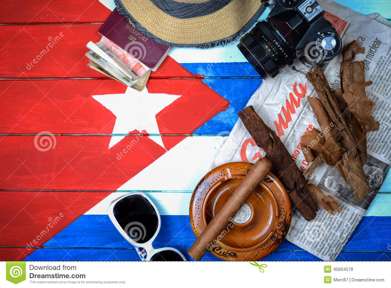 vintage travel to cuba background stock photo