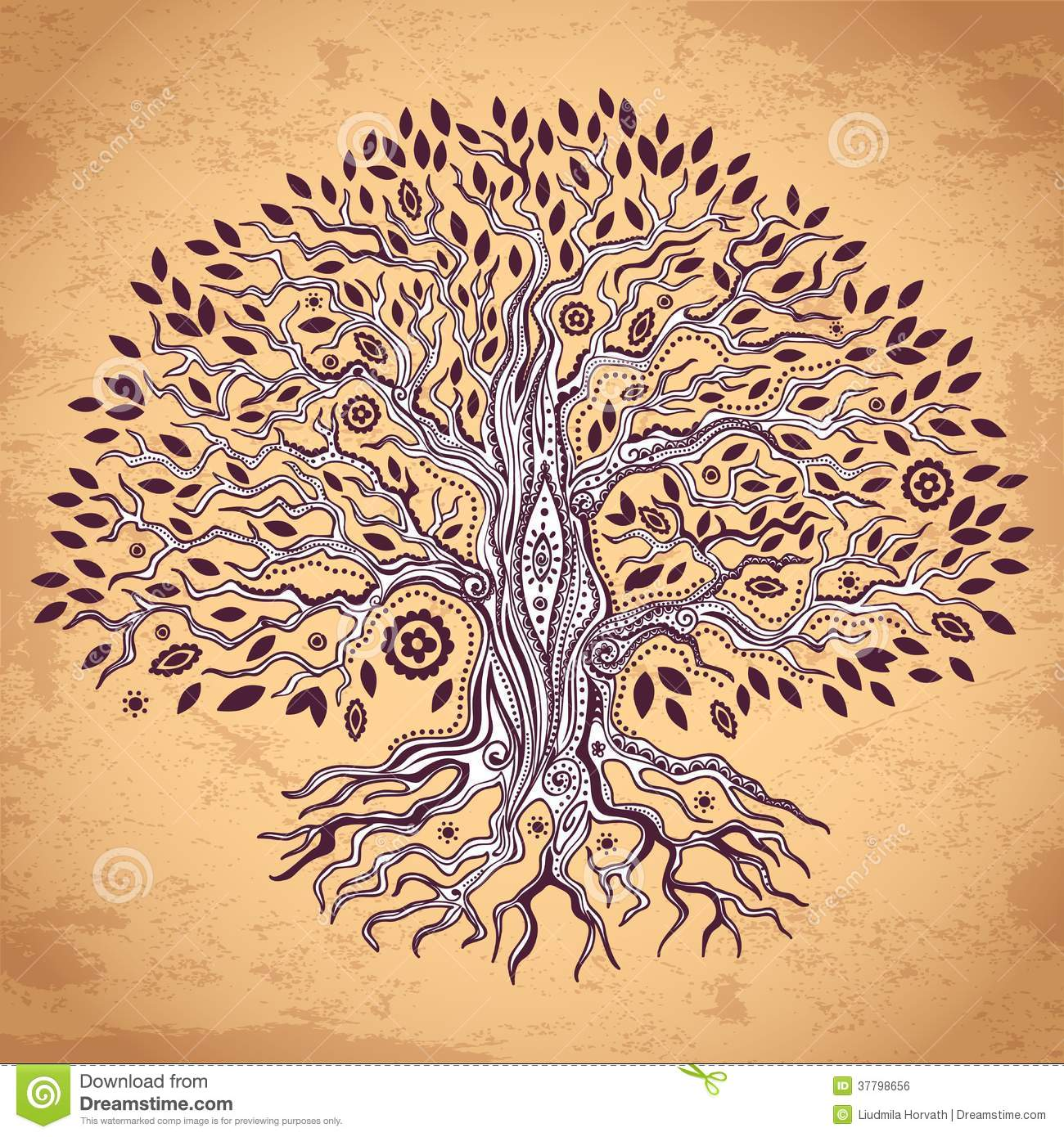 Vintage Tree Of Life Illustration Royalty Free Stock Image ...