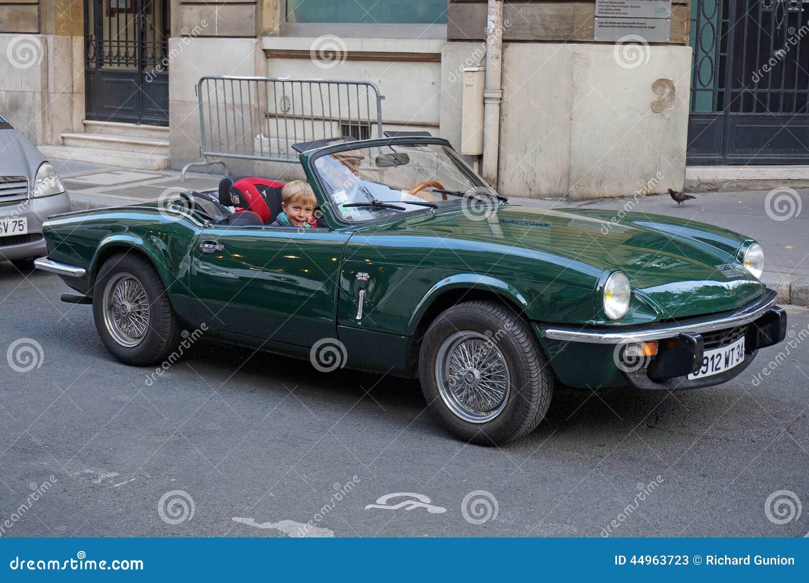 Vintage Triumph Sports Car