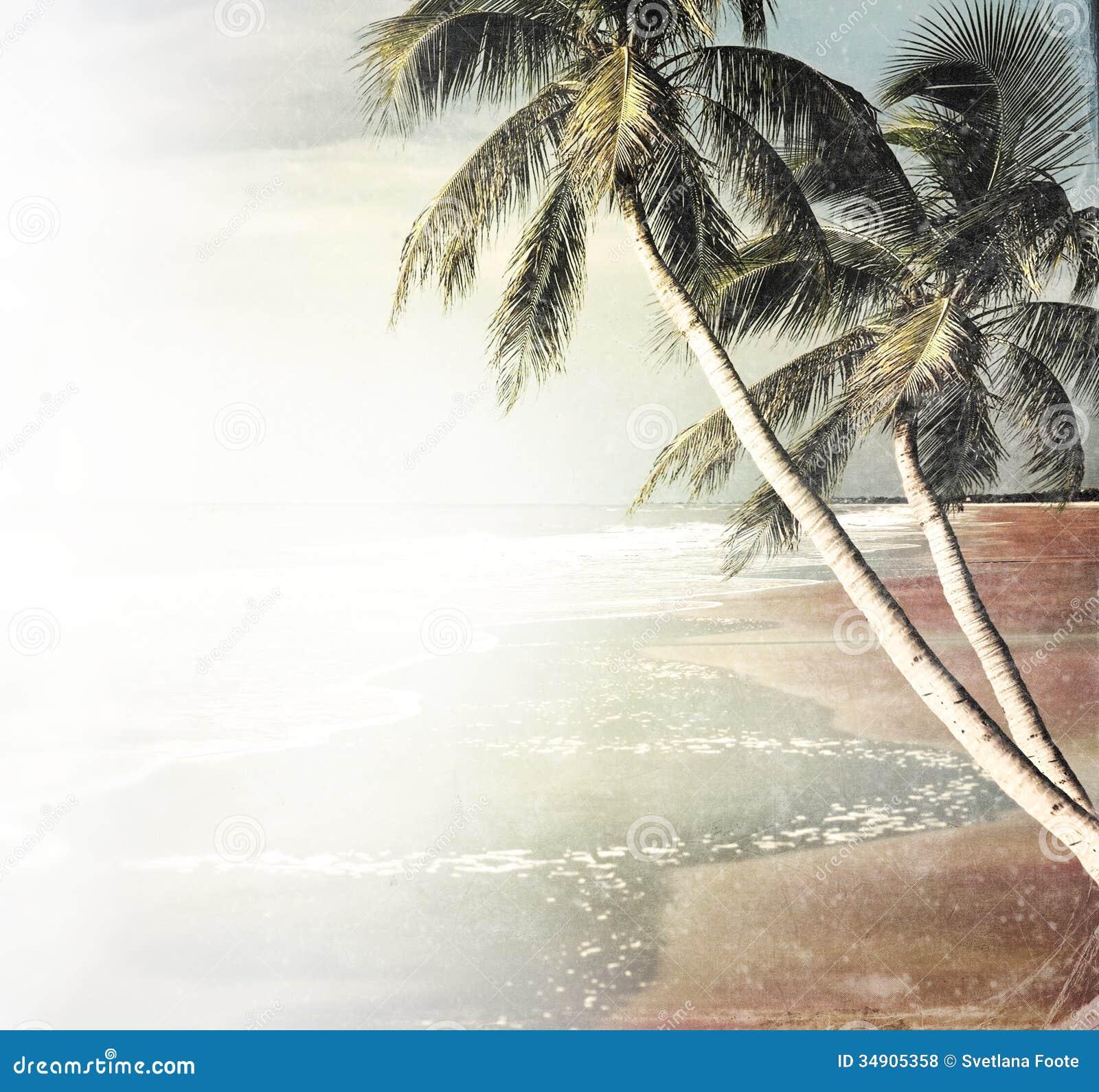Vintage Beach Background Stock Photo 112981333: Vintage Tropical Beach Background Royalty Free Stock