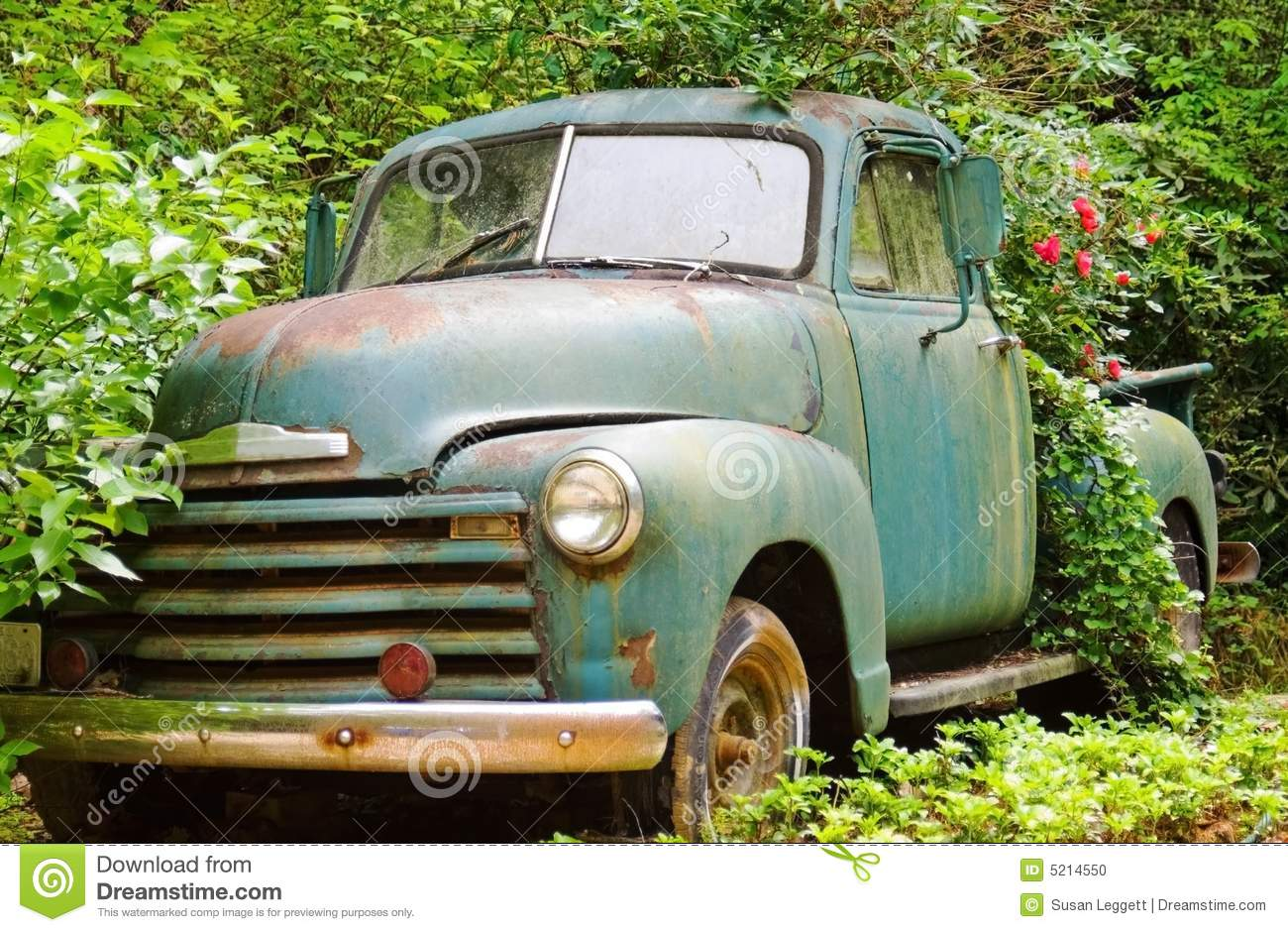 Vintage Truck Flower Planter Stock Photo Image Of Enjoy Abandoned 5214550