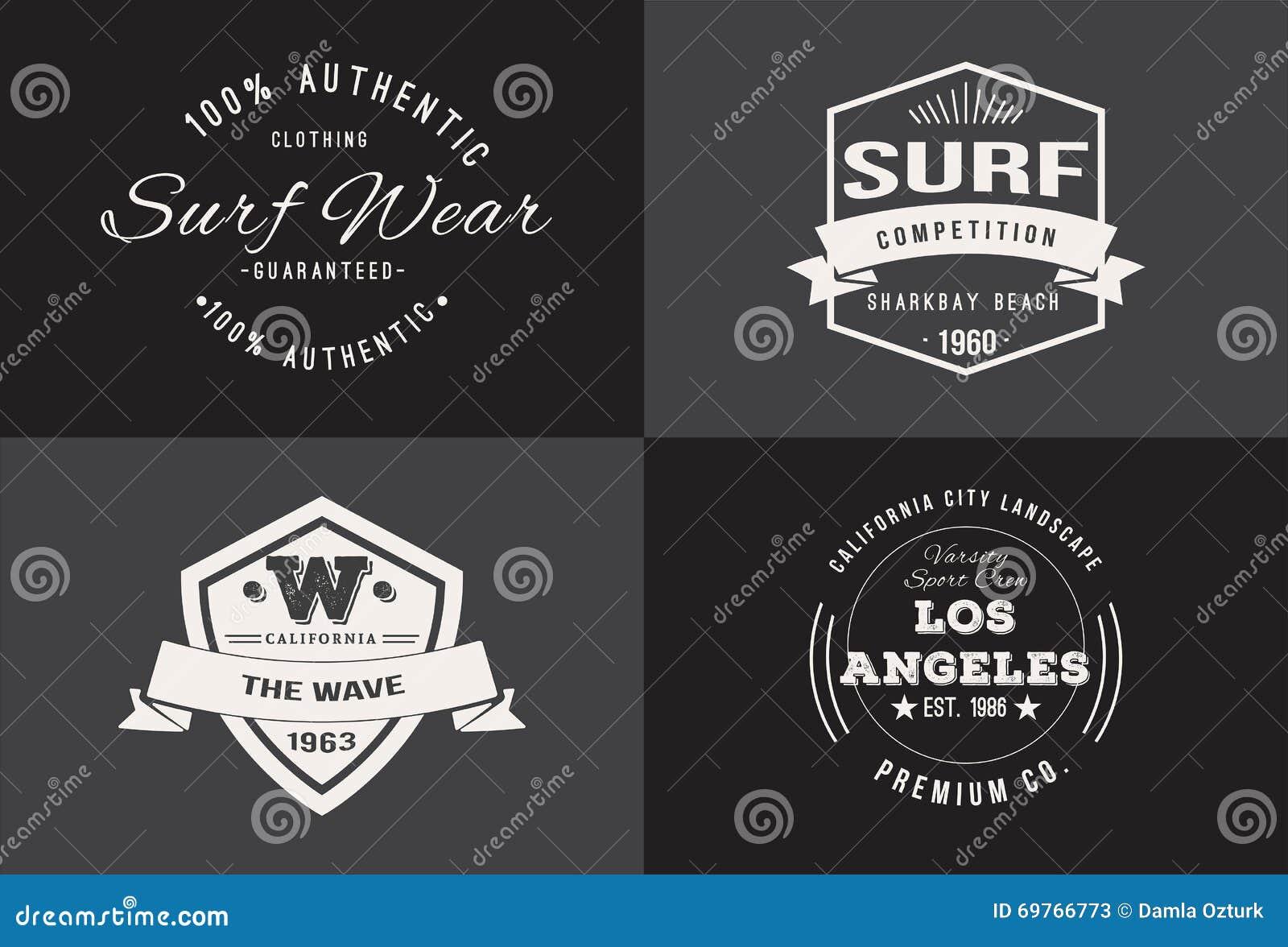 Shirt design vintage - Vintage Tshirt Design Set Stock Photos