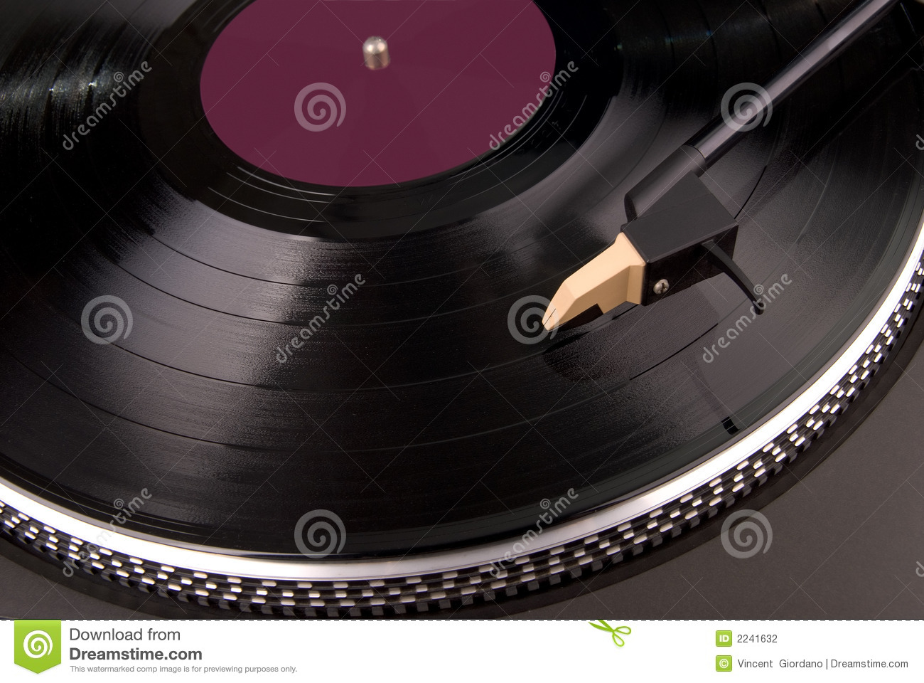 Vintage Turntable Stock Photography