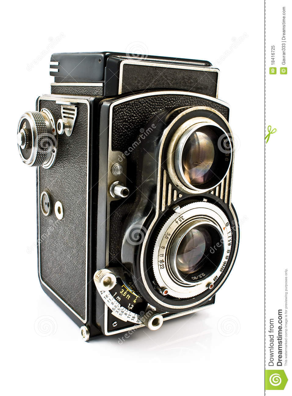 Vintage Two Lens Photo Camera Royalty Free Stock Photo