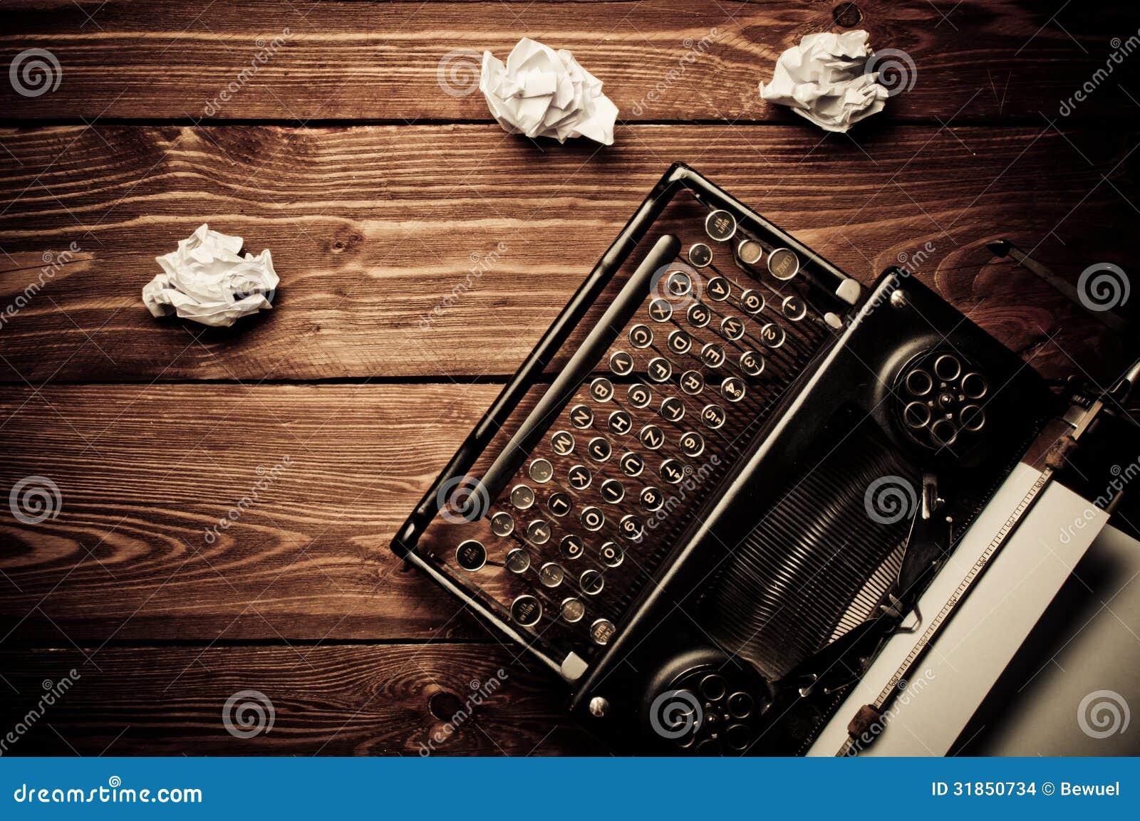 Vintage Typewriter And... Vintage Typewriter Paper Photography