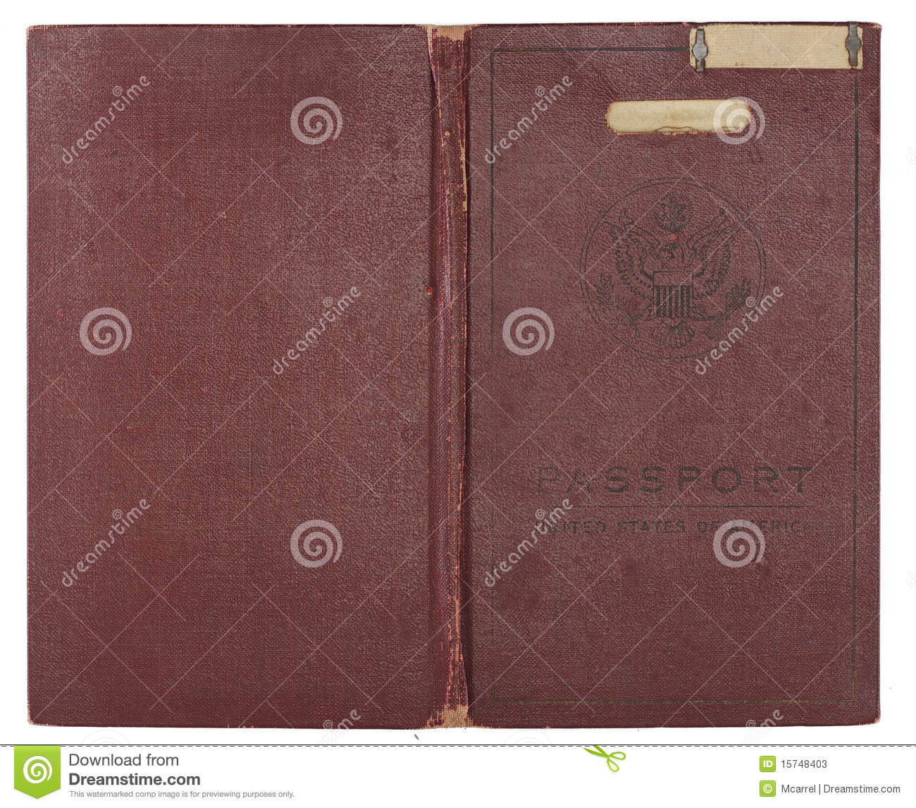 Vintage United States Passport Cover Stock Photos - Image ...