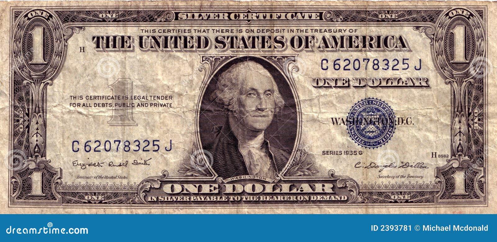 Vintage Us Dollar Stock Image Image 2393781