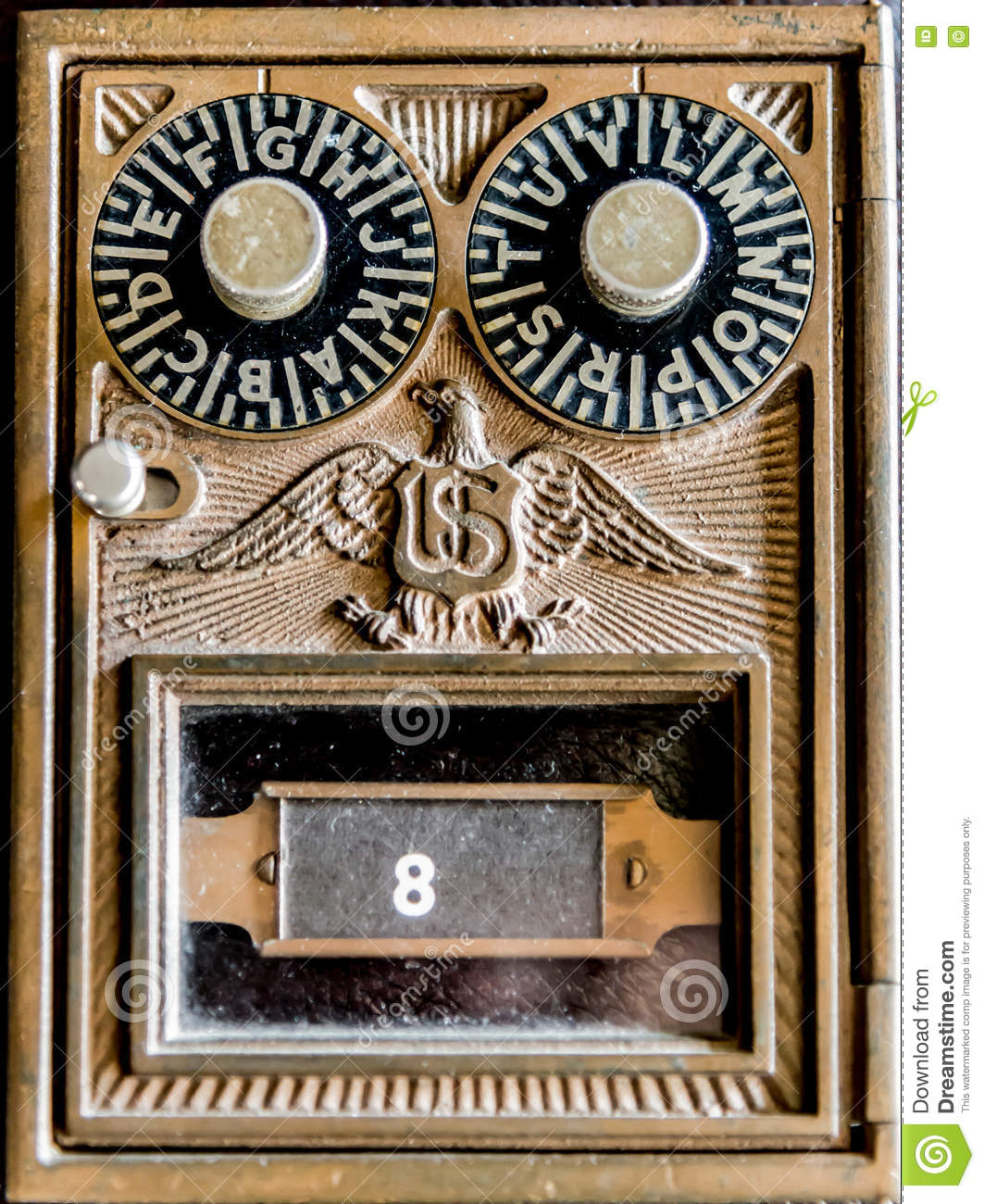 Vintage Us Post Office Box Stock Photo Image 72669302
