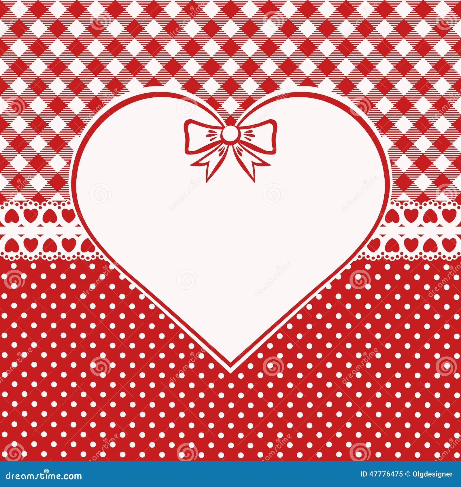 Vintage Valentine Card Stock Vector Illustration Of Border 47776475