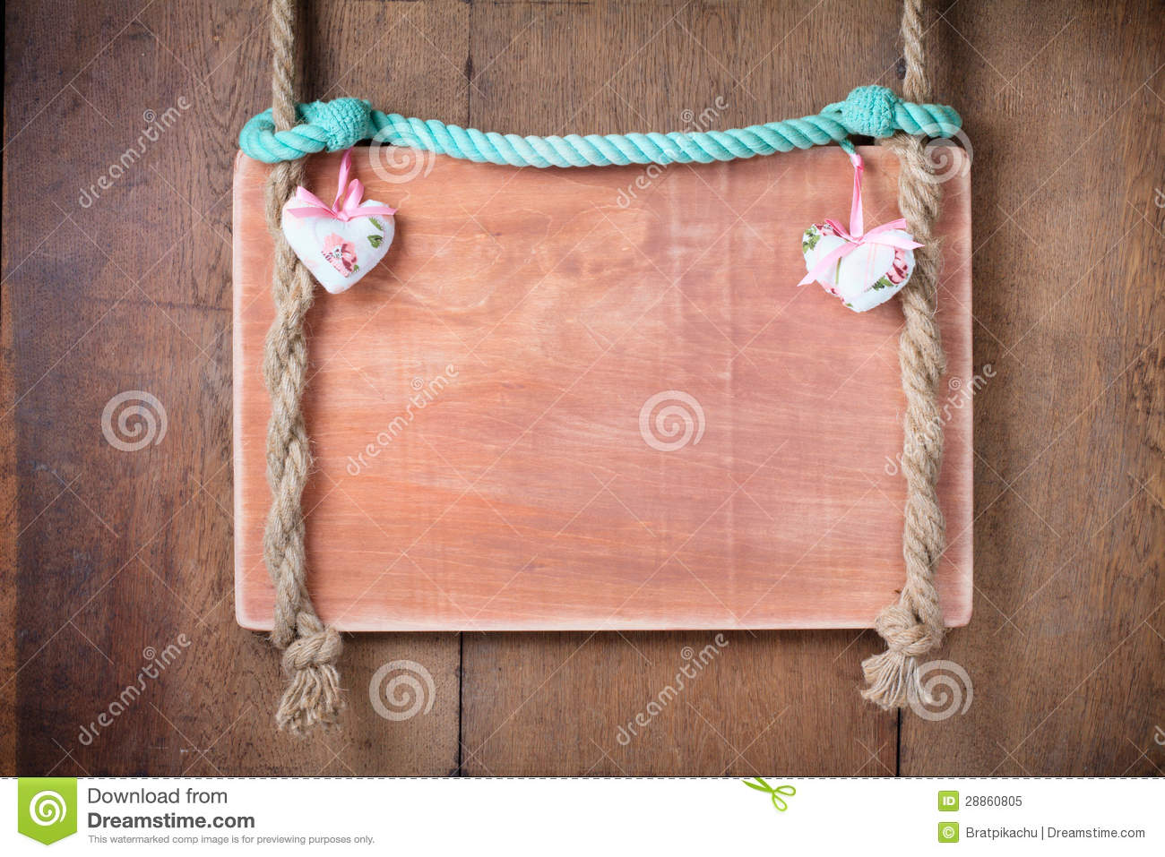 How Big Is A Cord Of Wood >> Vintage Valentine Frame Background With Hearts Hanging On Rope Royalty Free Stock Photo - Image ...