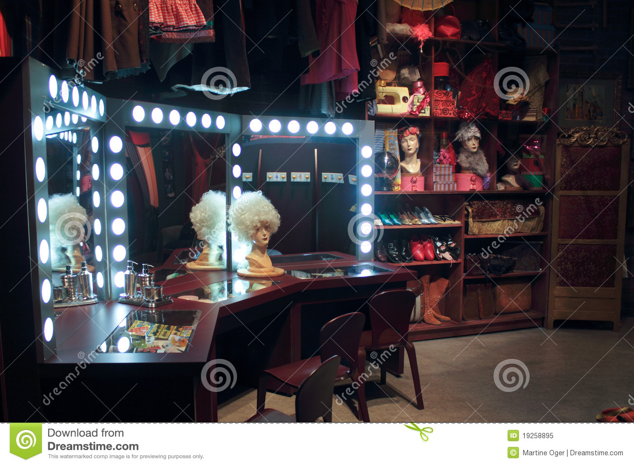 Vintage Vanity Room Royalty Free Stock Photo Image