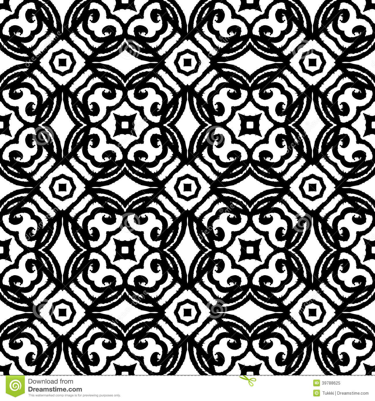 Vintage Vector Art Deco Pattern In Black And White Stock Vector