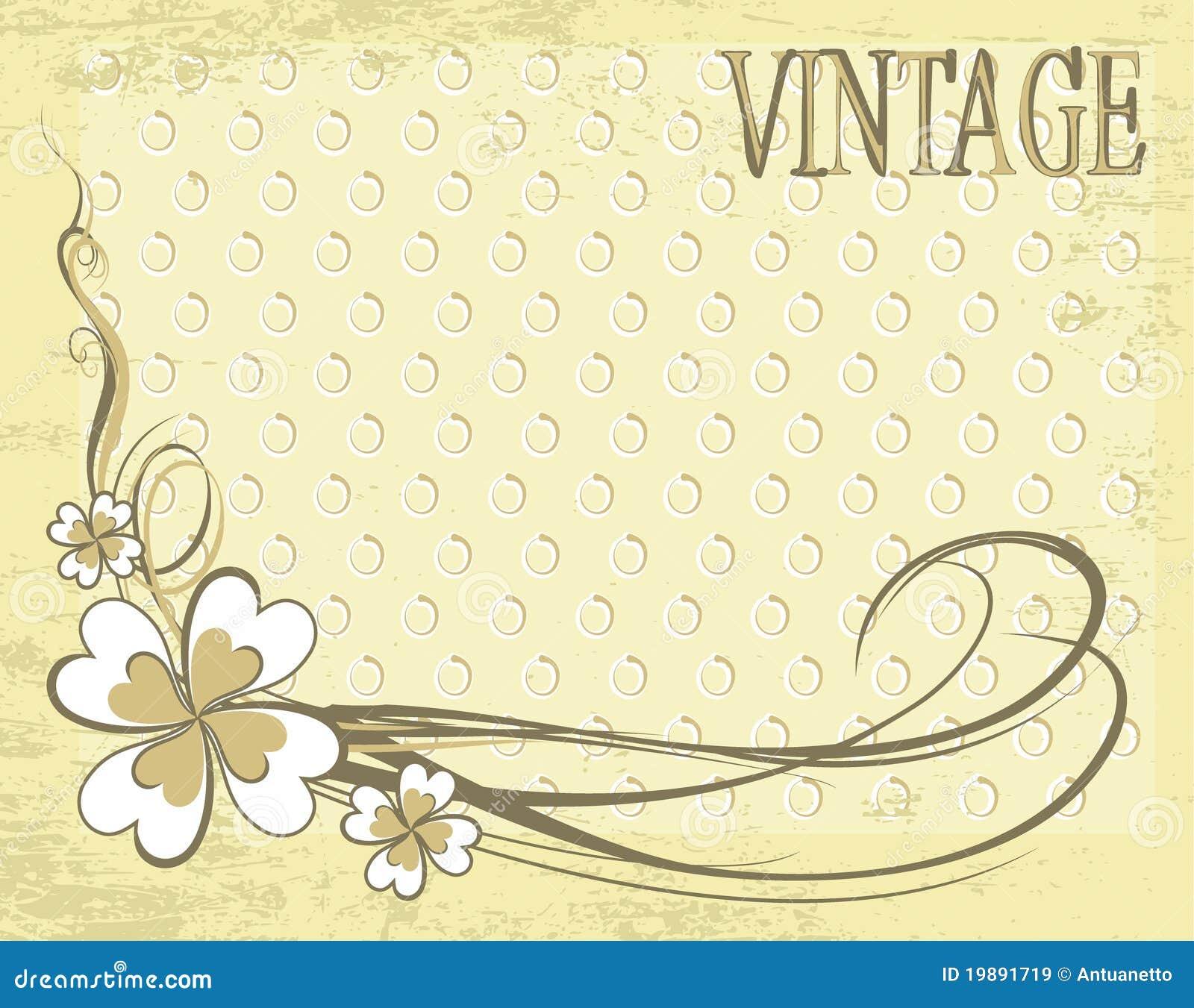 Vintage Vector Background Flower Pattern Royalty Free