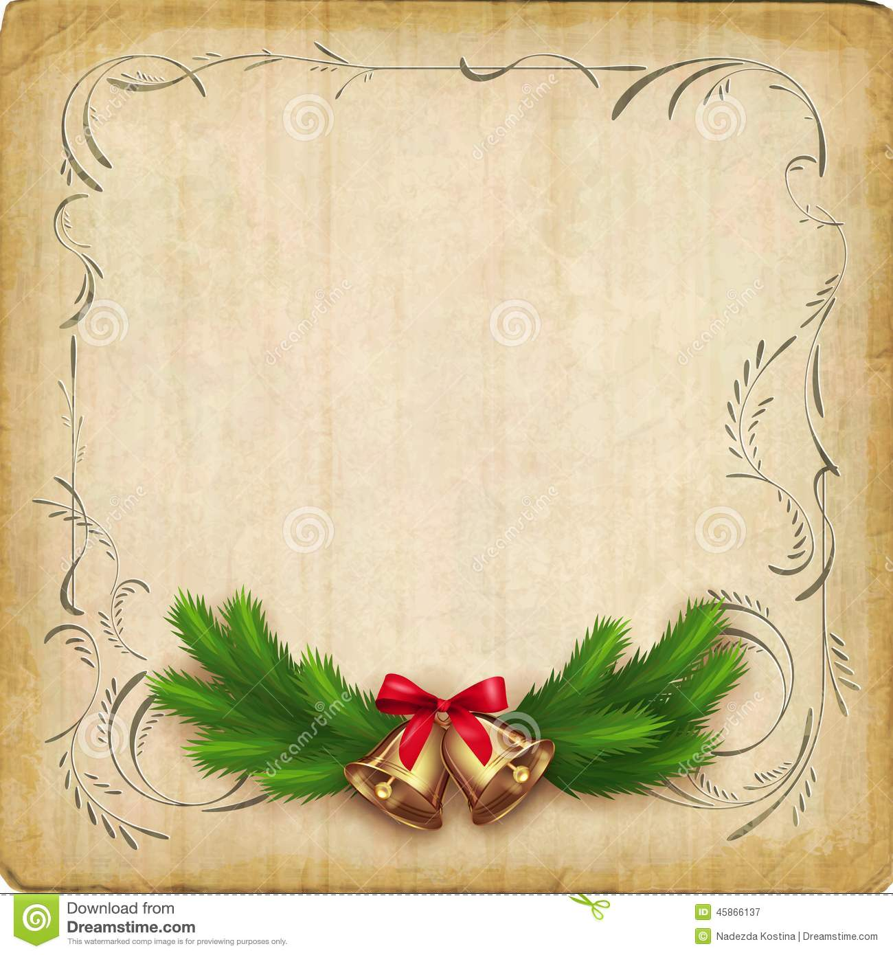 Vintage Vector Christmas Card Stock Image 45866137