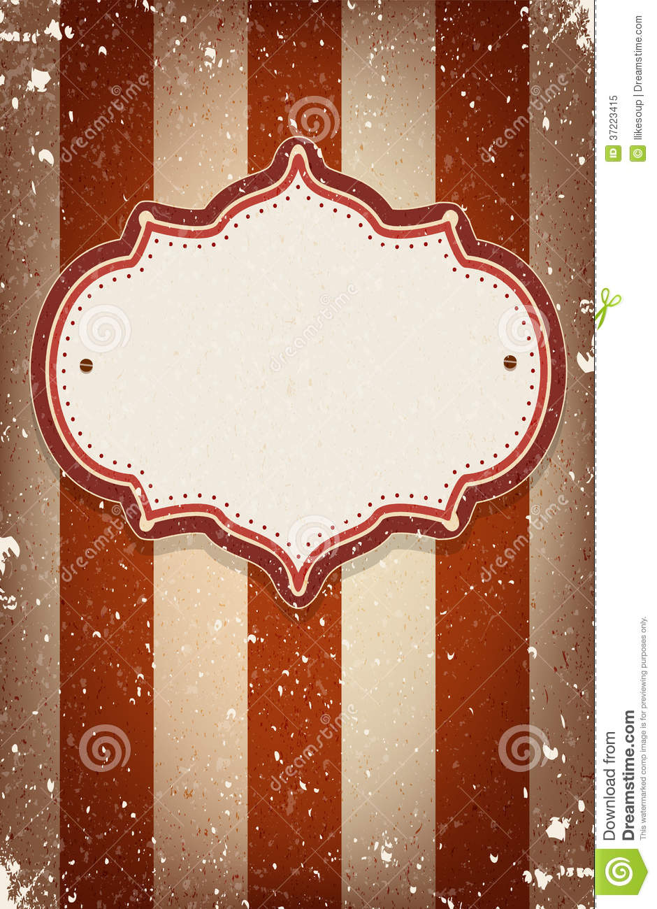 vintage vector circus inspired frame with a space for text stock vector