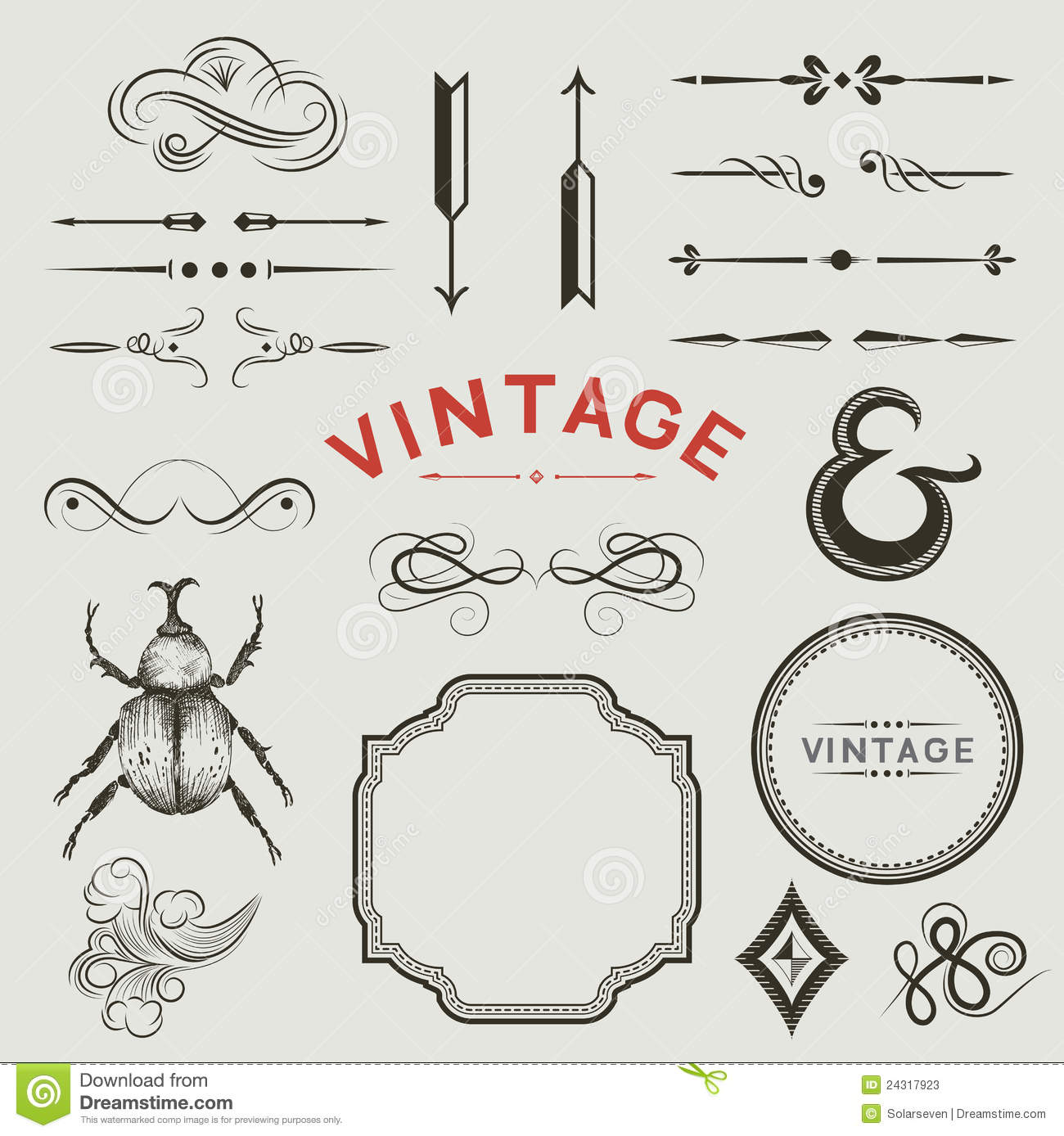 Vector Vintage Lines Wiring Diagrams Circuit Using Incandescent And Capacitor Ledandlightcircuit Elements Stock Illustration Of Drawn 24317923 Rh Dreamstime Com Decorative Line Design