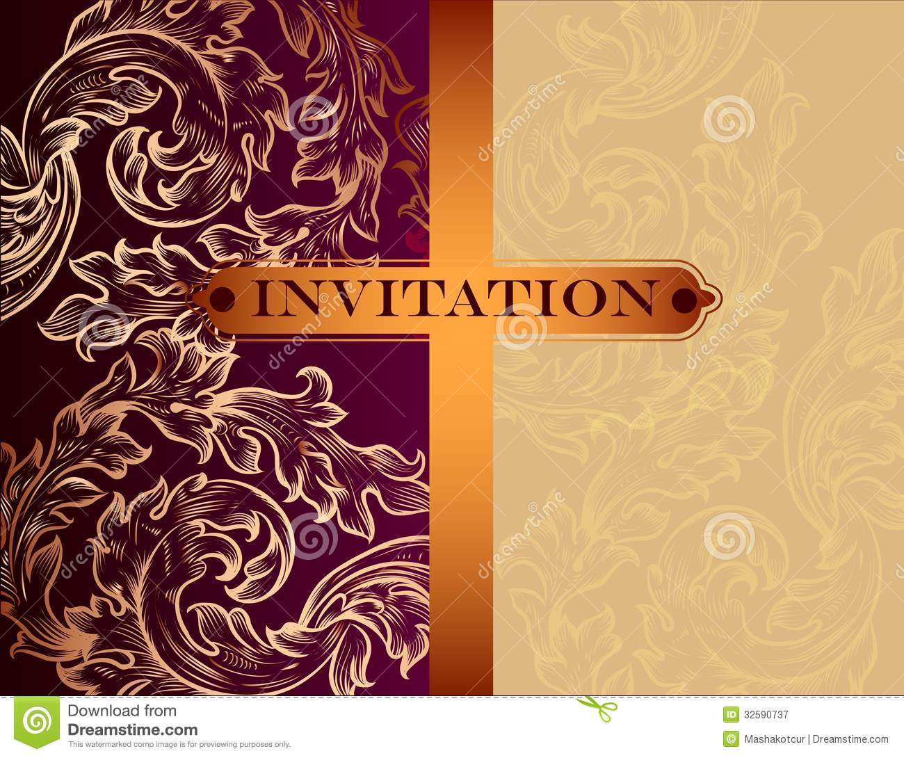 Luxury Wedding Invitation as luxury invitations template